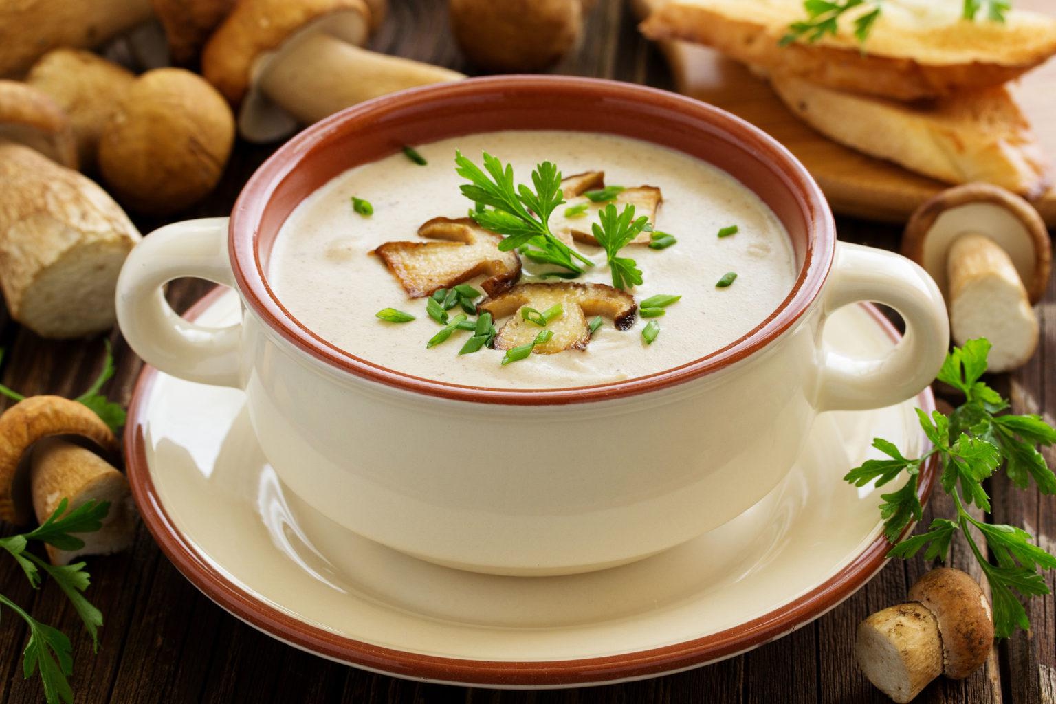 какие приправы в грибной суп